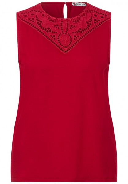 Street One embroidered mat-mix Top