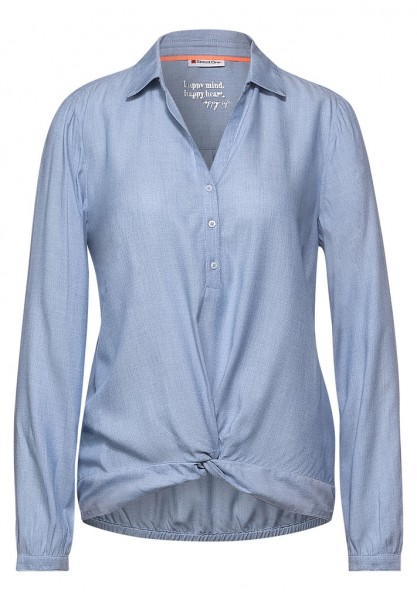 Street One Solid Shirtcollar Bluse